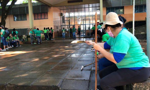 Integrantes del MRP limpian y acondicionan las escuelas para el inicio de clases