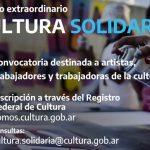 "A partir de hoy lunes lunes inscriben en ""Cultura Solidaria"""