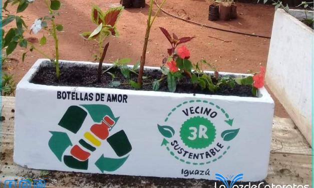 Entregaron a la Escuela 711 las primeras eco-macetas realizadas con «Botellas de Amor»